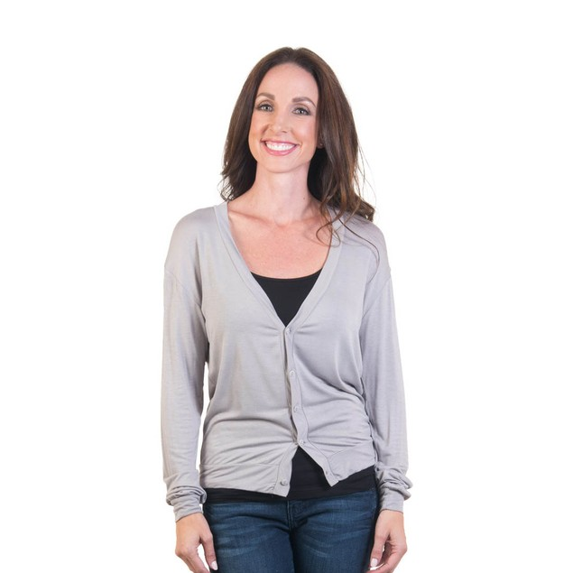 Agiato Women's Short Button Front Cardigan
