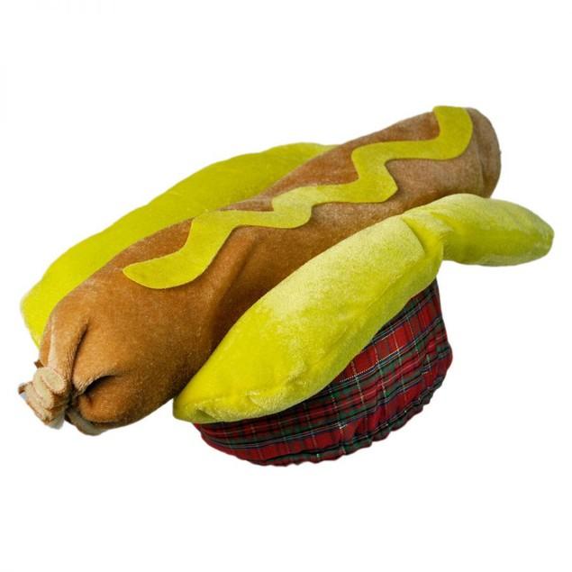 Hot Dog Hat Costume Frankfurter Hotdog Sausage Bun Weiner Cap BBQ Food