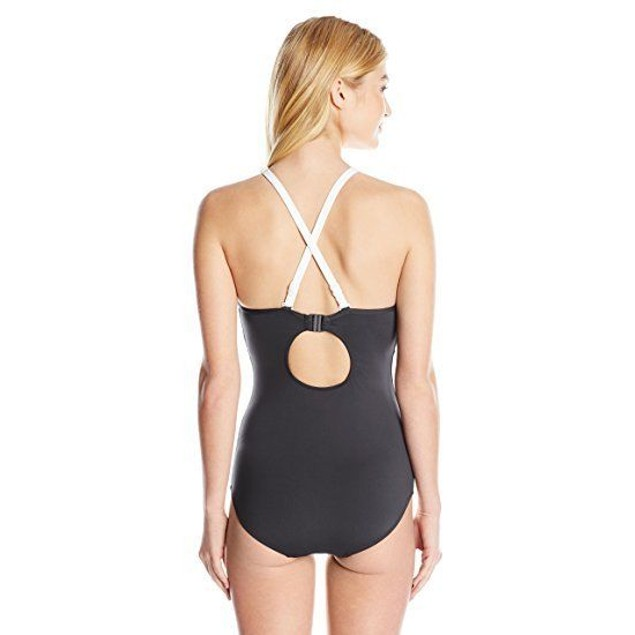 Seafolly Women's Block Party DD Maillot One Piece Swimsuit, Black, 10
