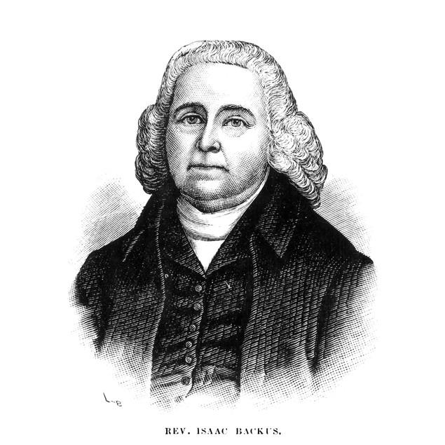 Isaac Backus (1724-1806). /Namerican Baptist Cleric. Wood Engraving, 19Th C