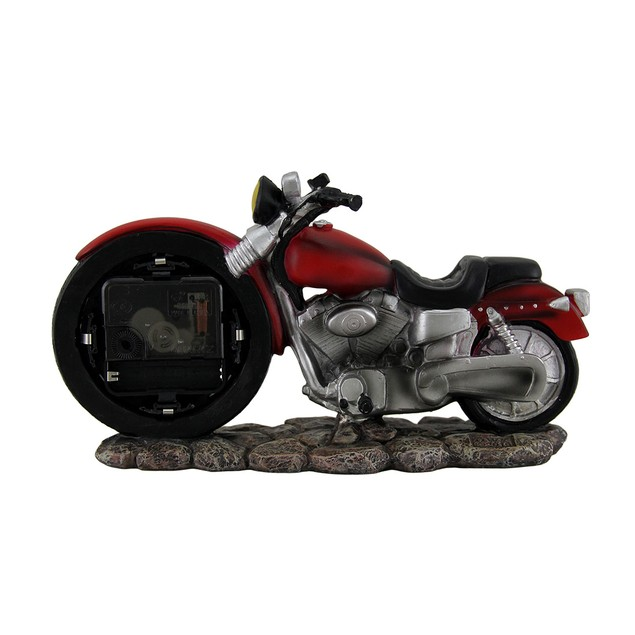 Time To Ride Red Motorcycle Route 66 Desk Clock 10 Desk Clocks