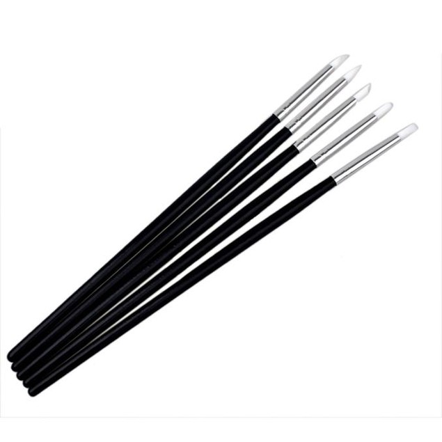 5Pcs Nail Art Tips Tools Polish Pen Brush