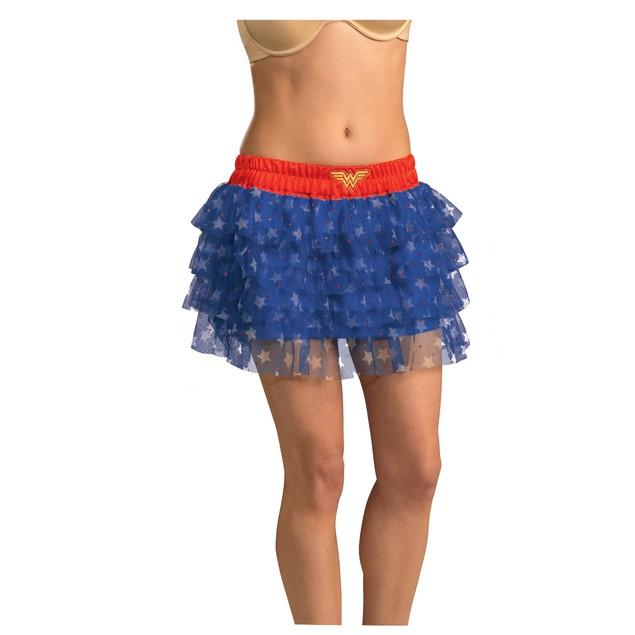 Wonder Woman Sequin Skirt Dress Womens Uniform Logo Costume  DC Comics