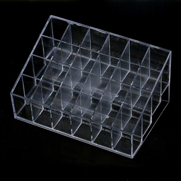 24-Compartment Clear Lipstick Holder