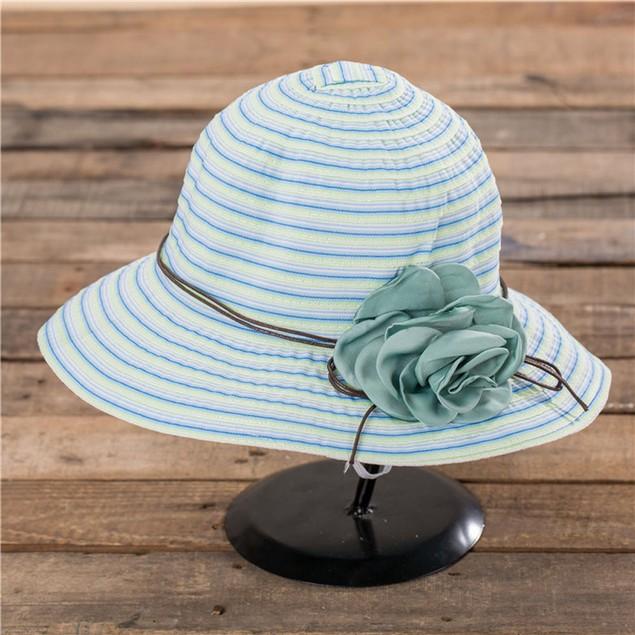 Summer Girl Women Wide Brim Beach Sun Hat Elegant Flower Boho Cap