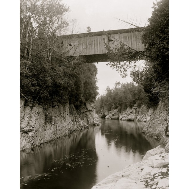 High Bridge, Winooski Gorge, Burlington, Vt. Poster