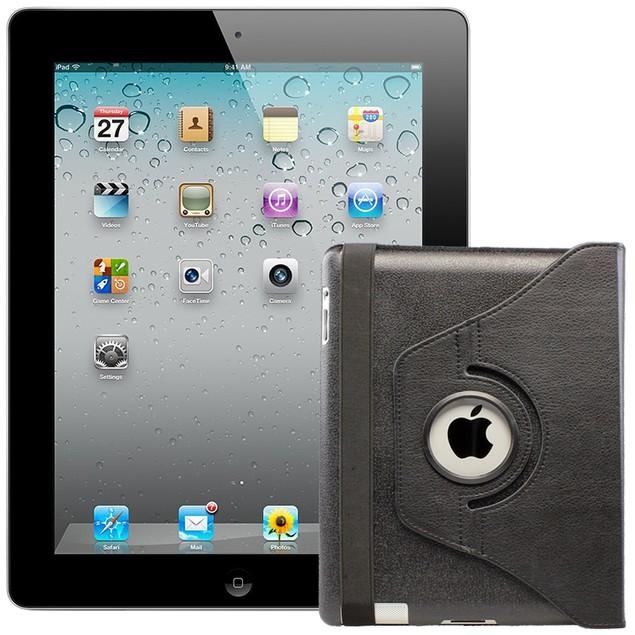 Apple iPad 2 MC769LL/A + FREE CASE (16GB WiFi, Black) Grade C