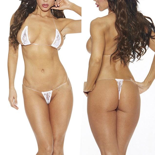 Women's Lace Lingerie Bikini Intimates Underwear G-String Thong Bra Set