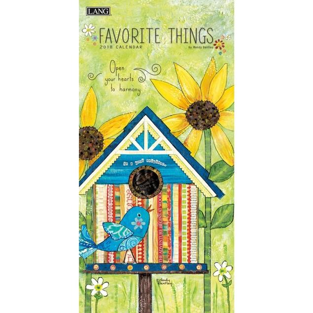 Favorite Things Slim Wall Calendar, Lang Folk Art by Calendars