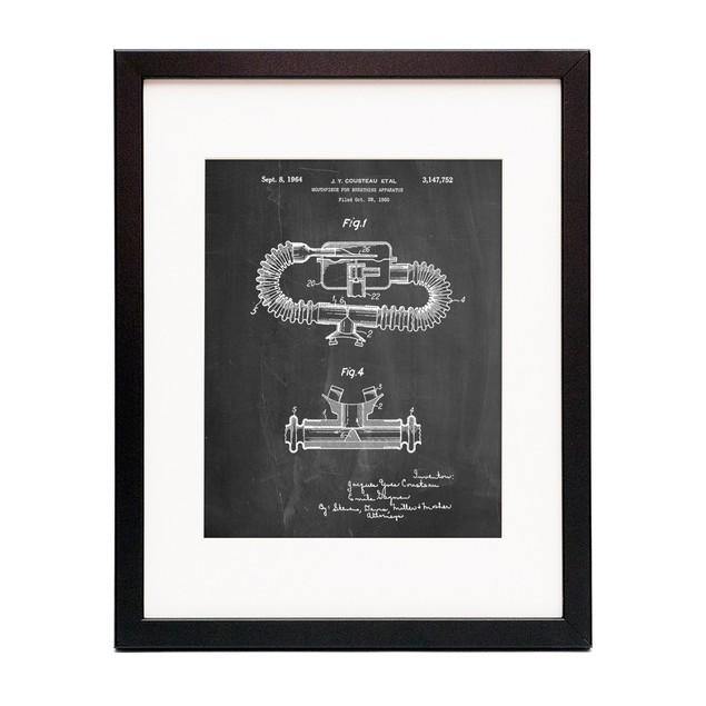 Jacques Cousteau Diving Suit Patent Poster