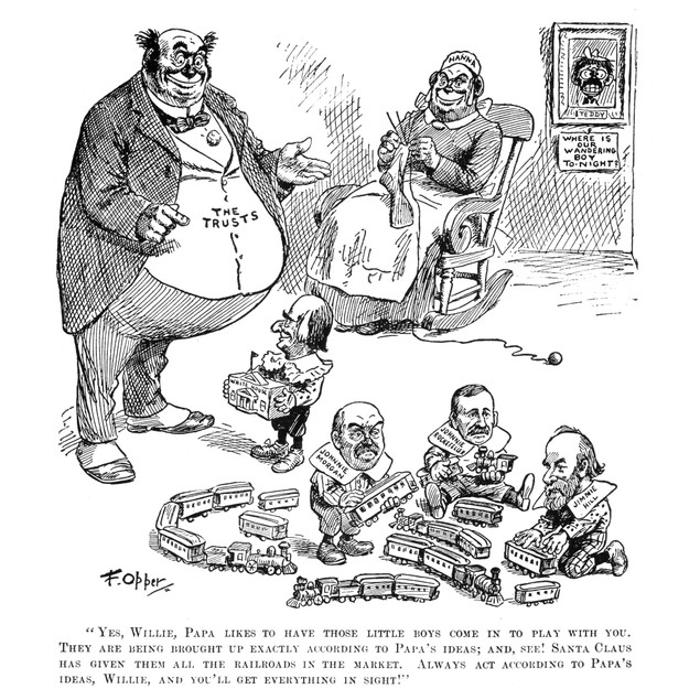 Mckinley Cartoon, 1900. /Nfrom The Cartoon Series 'Willie And His Pappa,' B