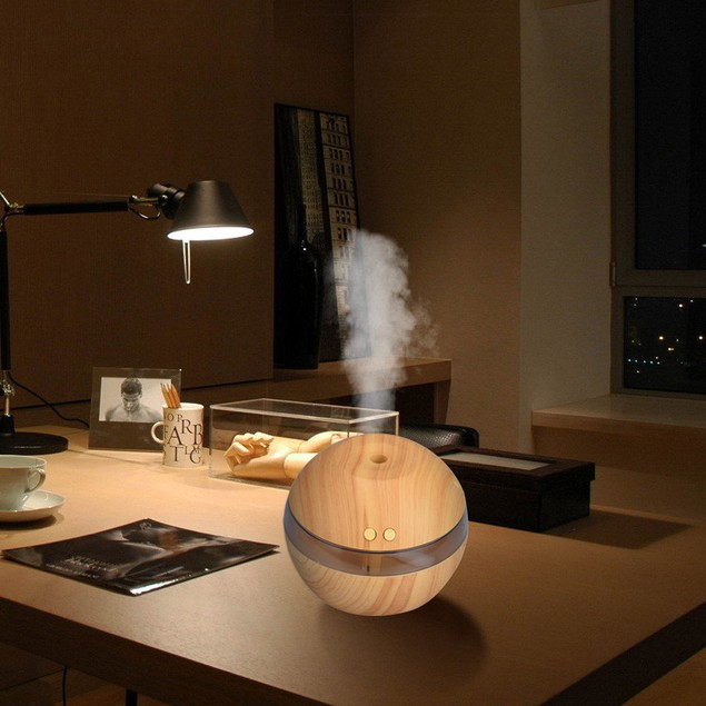 Mini LED Ultrasonic Aroma Aromatherapy Air Humidifier - Watch the Video
