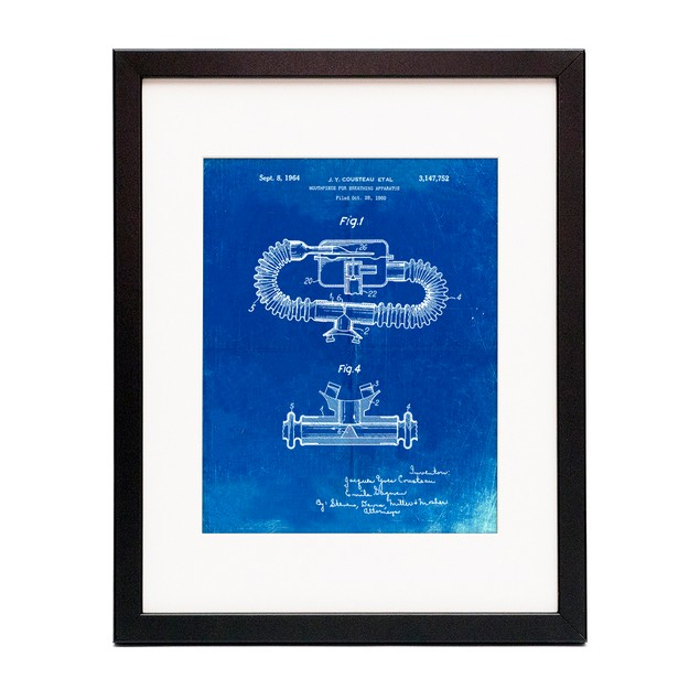 Jacques Cousteau Diving Suit Patent Poster