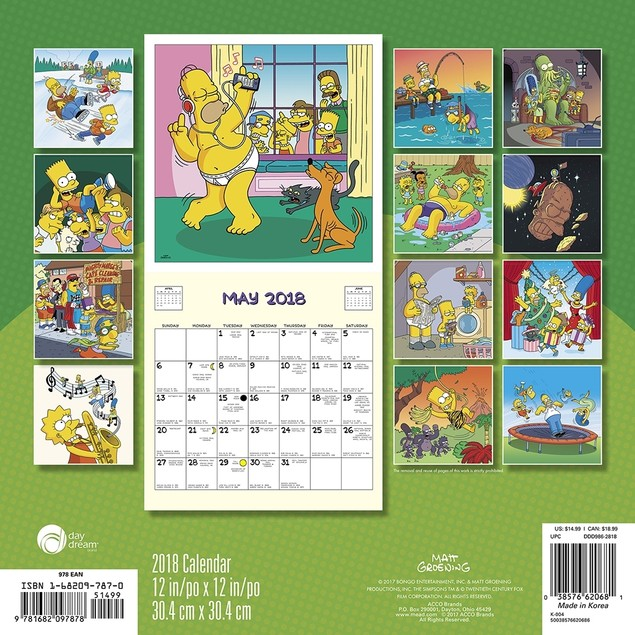 The Simpsons Wall Calendar, More Pop Culture by Calendars