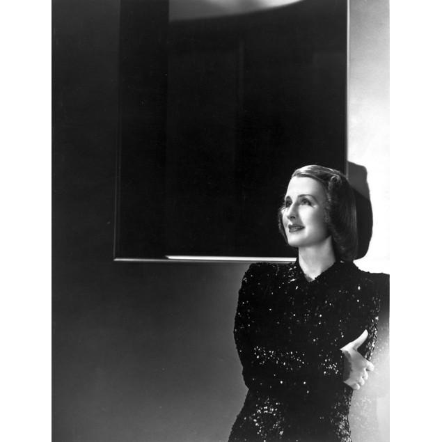 Norma Shearer Posed in Shimmering Dress Poster