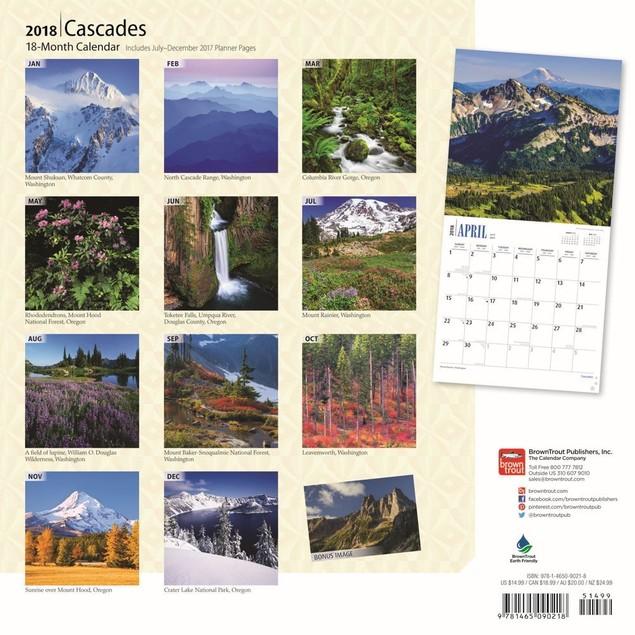 Cascades Wall Calendar, More Travel | Scenic by Calendars