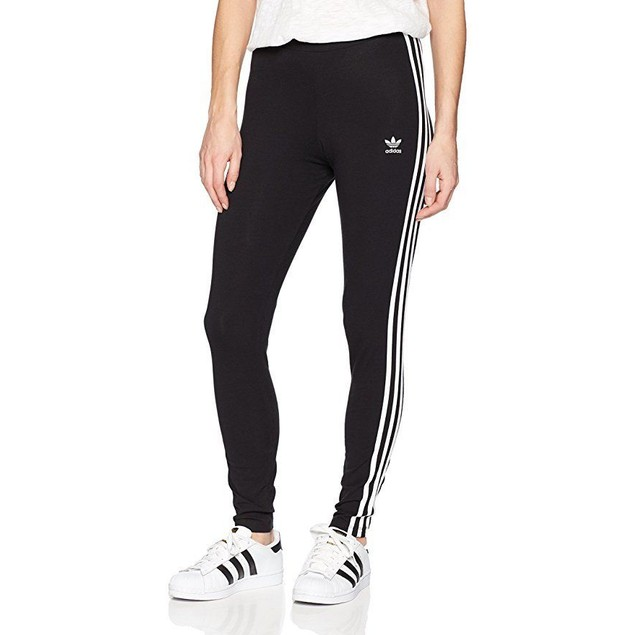 adidas Originals Women's 3-Stripes Leggings, Black, X-Small