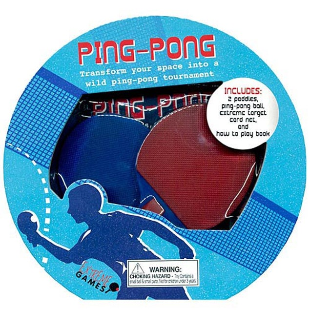 Ping Pong Book and Desktop Game, Desktop Games by Sellers Publishing