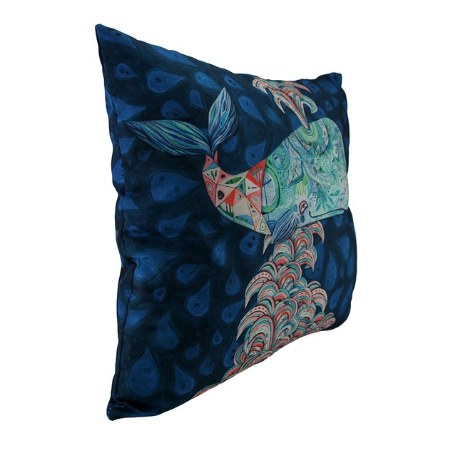 Allen Designs Whimsy The Spouting Whale Decorative Throw Pillows