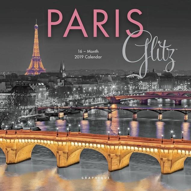 Paris Glitz Mini Wall Calendar, France by Calendars