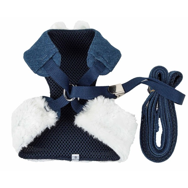Pet Life Luxe 'Pom Draper' 2-In-1 Adjustable Dog Harness-Leash with Bowtie