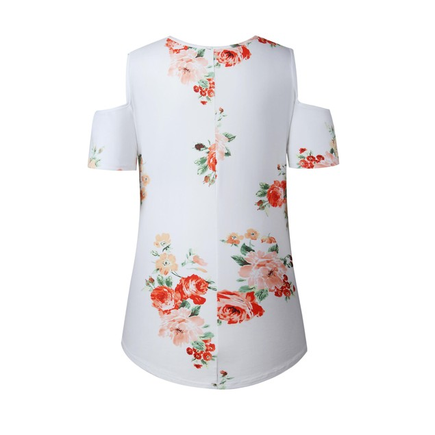 Cold Shoulder Floral Shirt