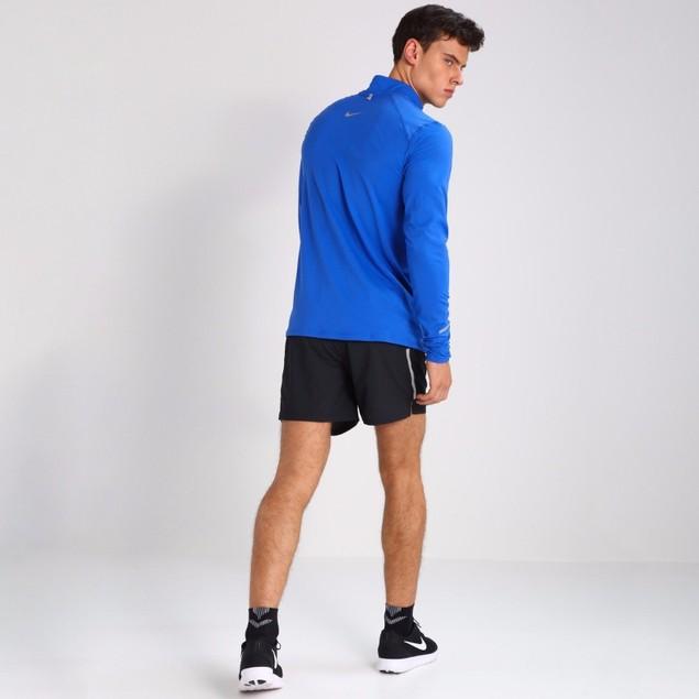 SZ: M  Men's Nike Dri-Fit Element Long Sleeve Half Zip Med Blue 800297