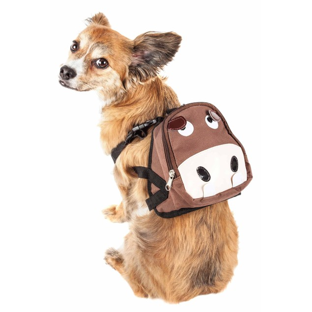 Pet Life 'Mooltese' Compartmental Animated Dog Harness Backpack