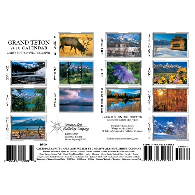 Grand Teton Mini Wall Calendar, National Parks by Creative Arts Publishing
