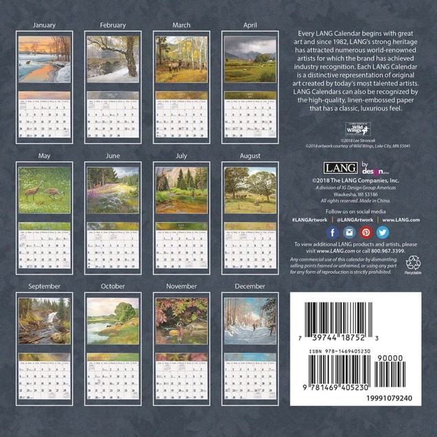 Four Seasons Mini Wall Calendar, Lang Folk Art by Calendars