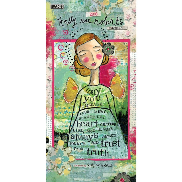 Kelly Rae Roberts Slim Wall Calendar, Lang Folk Art by Calendars