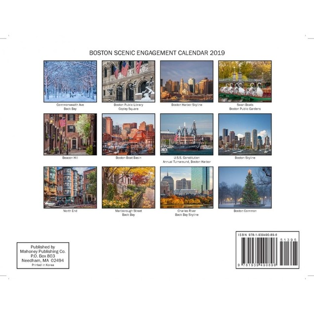 Boston Wall Calendar, Boston by Mahoney Publishing