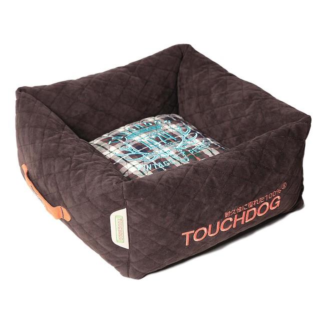 Touchdog Exquisite-Wuff Posh Rectangular Fleece Plaid Dog Bed