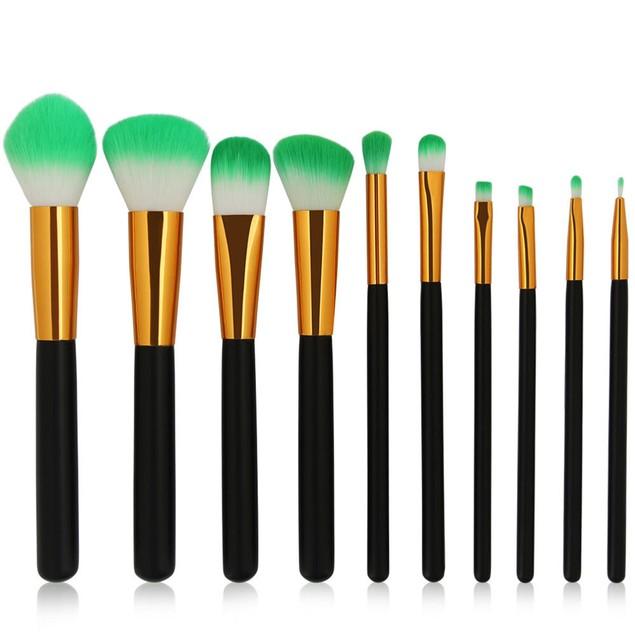 10PCS/1Set Cosmetic Makeup Brush Brushes Set Foundation Powder Eyeshadow