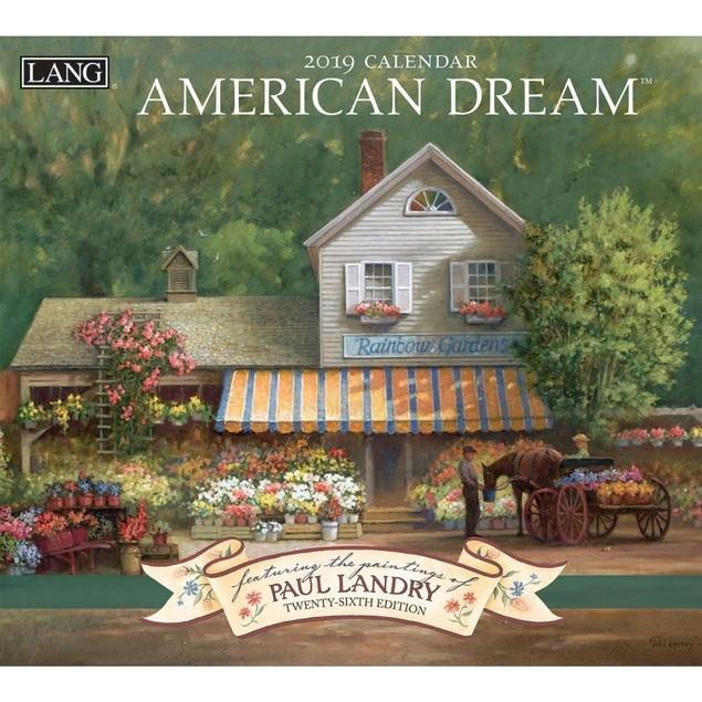 American Dream Wall Calendar, Lang Folk Art by Calendars