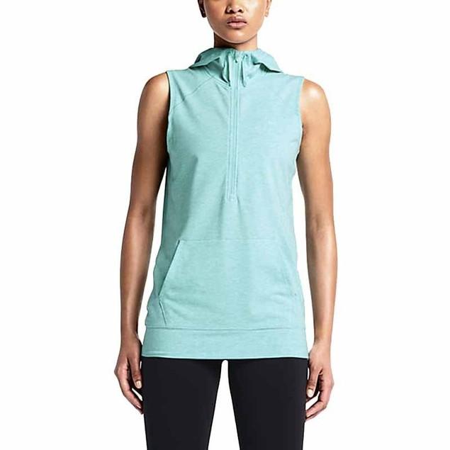 WOMENS Nike Sleeveless Obsessed HZ Athletic Hoodie Turq 650849-353 SZ