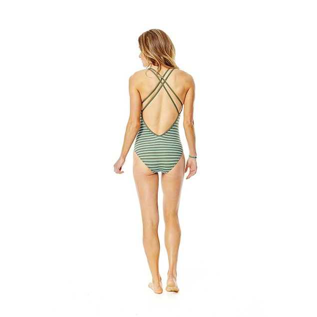 Carve Designs Women's Beacon One Piece, Canyon Stripe, SIZE LARGE