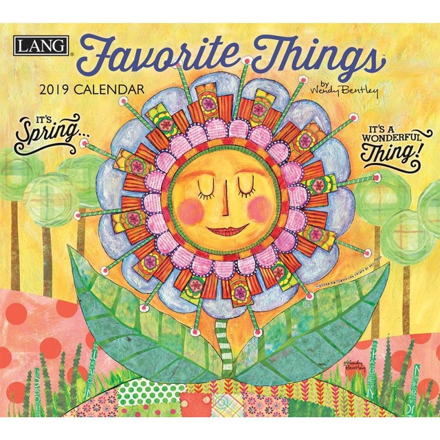 Favorite Things Wall Calendar, Lang Folk Art by Calendars
