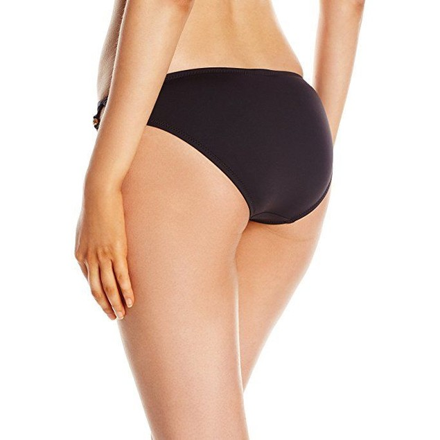 Trina Turk Women's Algiers Strap Side Hiptster Bikini Bottom, Black, 8