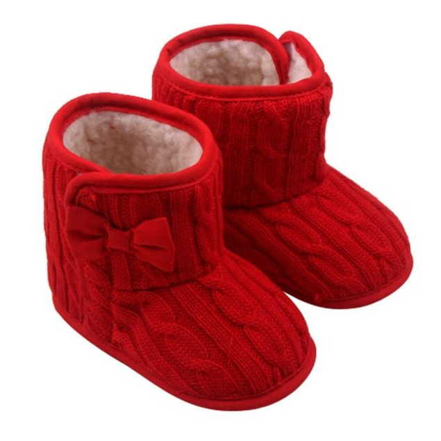 Baby Bowknot Soft Sole Winter Warm Shoes Boots