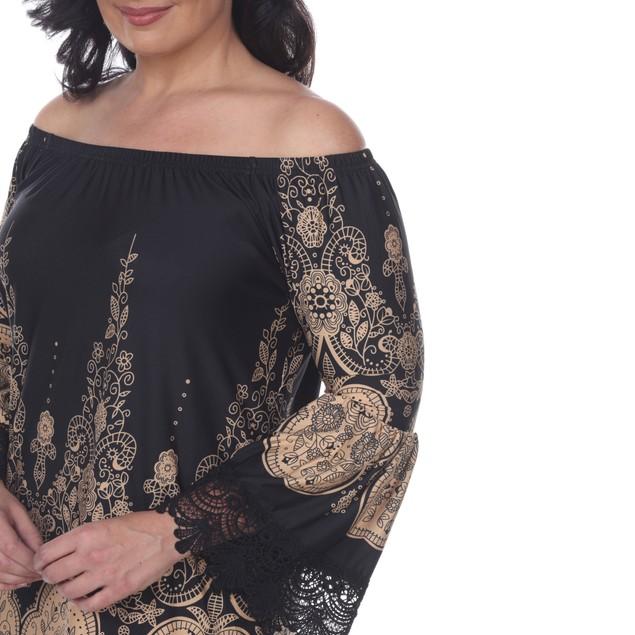 White Mark Universal Plus Size Off the Shoulder Mya Dress - 6 Colors