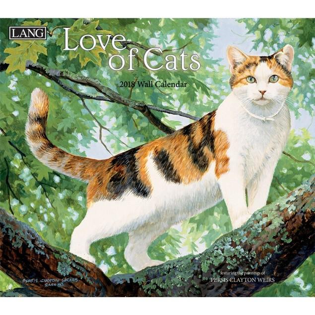 Love of Cats Wall Calendar, Cat Art by Calendars