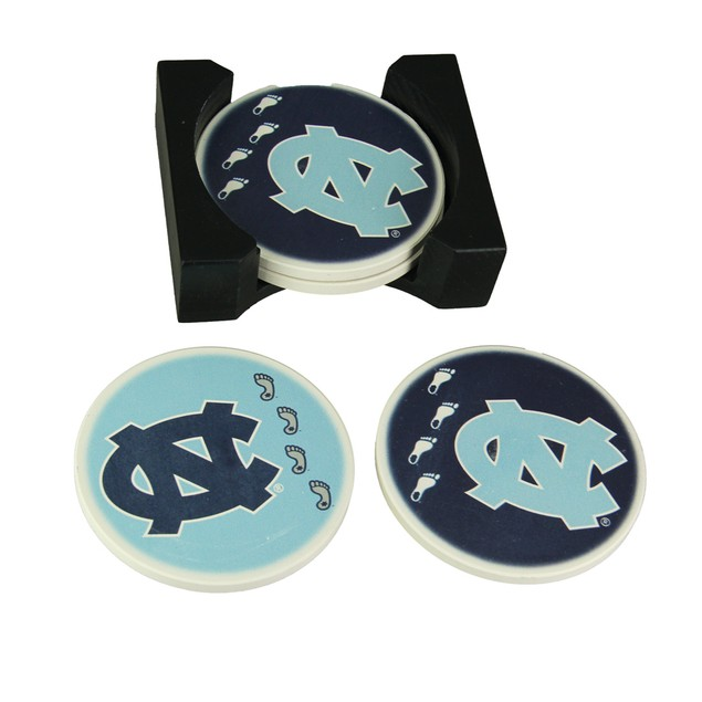 University Of North Carolina Tar Heels 4 Piece Coasters