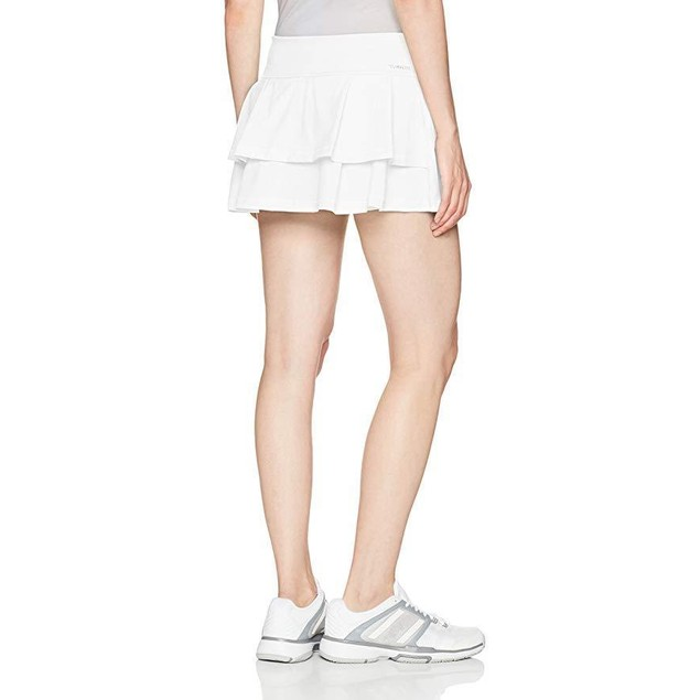 adidas Women's Tennis Advantage Skirt, White/Layered, SZ  X-Large