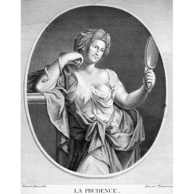 Virtues: Prudence, 1777. /Nan Allegory Of Prudence. /Ncopper Engraving, Fre