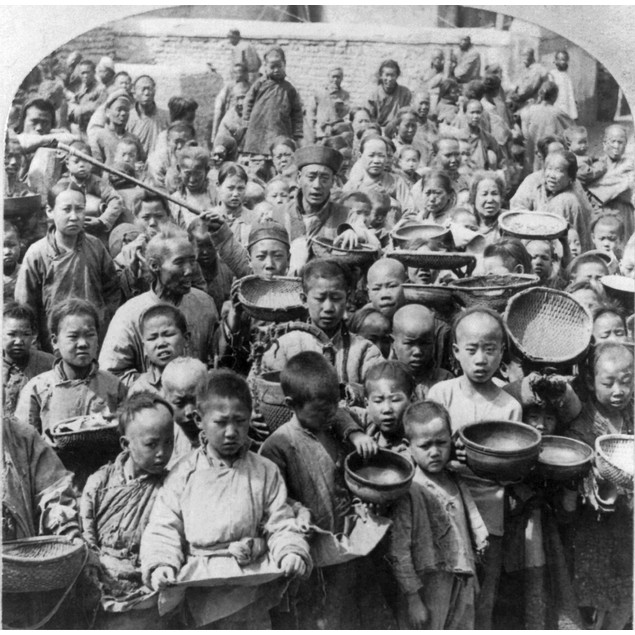 China: Peking, C1902. /Ngroup Of Chinese People Waiting At The United State