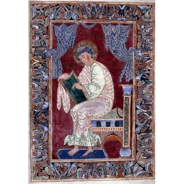 Saint Mark /Nin An Illumination From An Early 11Th Century French Latin Gos