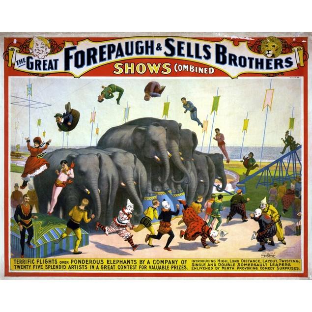 Circus Poster, C1899. /Namerican Poster, C1899, For Forepaugh & Sells Broth