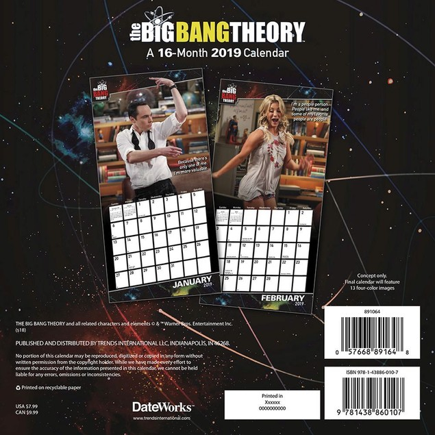 The Big Bang Theory Mini Wall Calendar, Comedy TV by Calendars