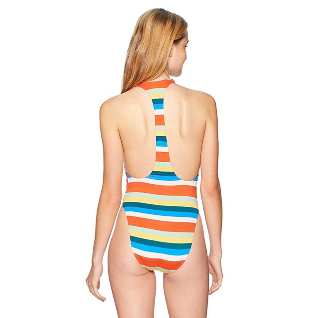 Vitamin A Swimwear Women's Lilli Bodysuit Blue Lagoon Swimsuit SZ 10/L